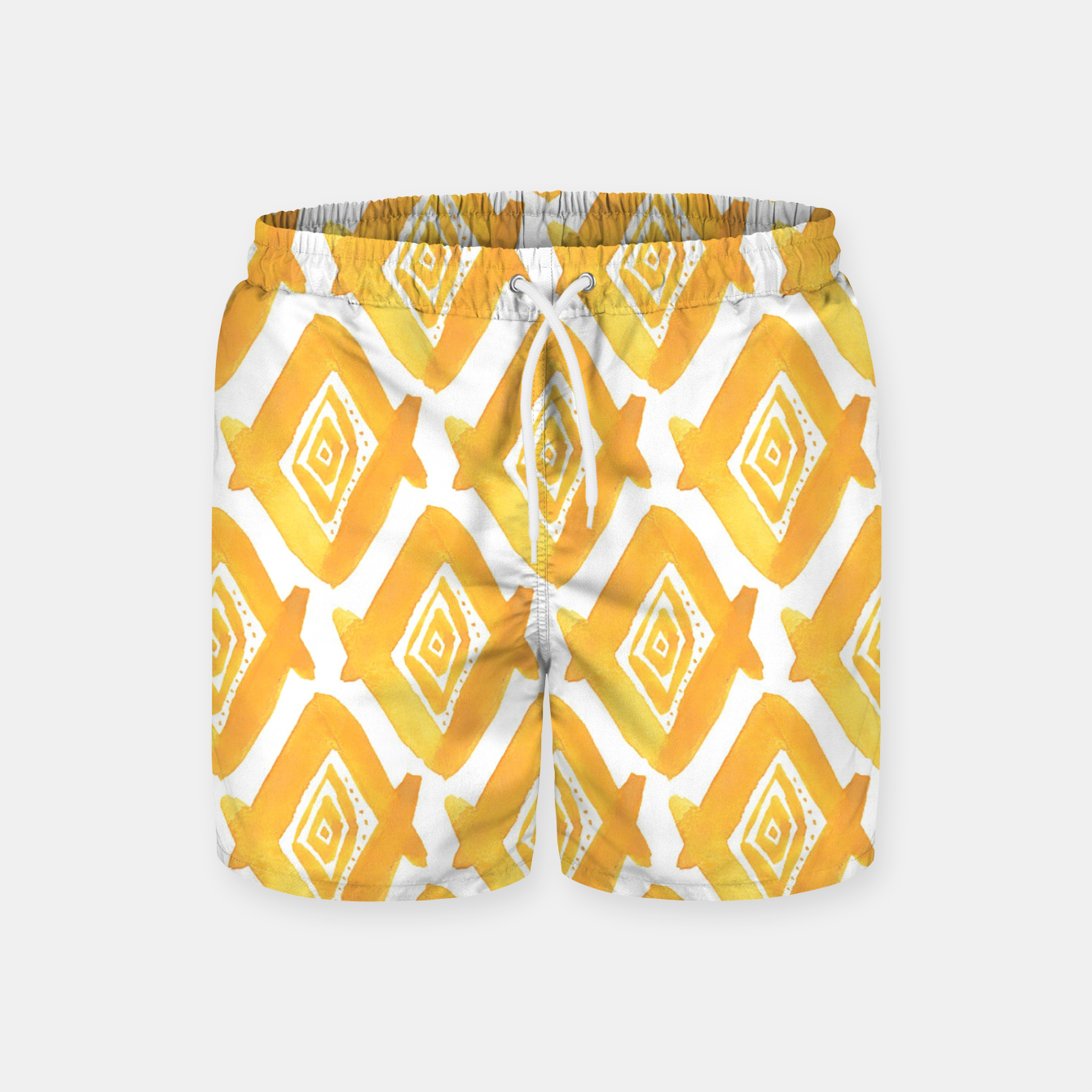 Image de Ethnic Yellow Pattern Swim Shorts - Live Heroes