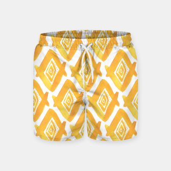 Miniature de image de Ethnic Yellow Pattern Swim Shorts, Live Heroes