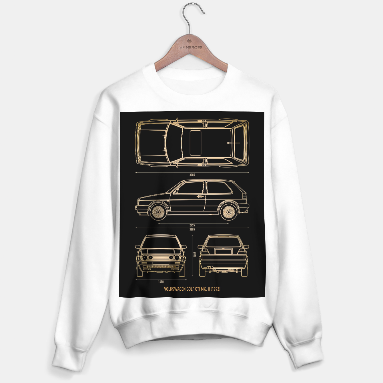 Image of GOLF mk 2 1992 Sweater regular - Live Heroes