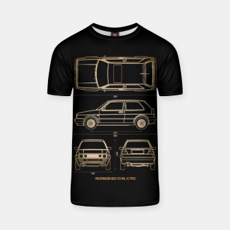 Thumbnail image of GOLF mk 2 1992 T-shirt, Live Heroes