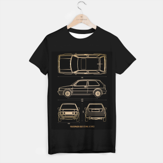 Miniatur GOLF mk 2 1992 T-shirt regular, Live Heroes