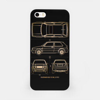 Miniatur GOLF mk 2 1992 iPhone Case, Live Heroes