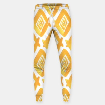 Miniaturka Ethnic Yellow Pattern Sweatpants, Live Heroes