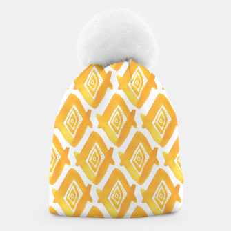 Thumbnail image of Ethnic Yellow Pattern Beanie, Live Heroes