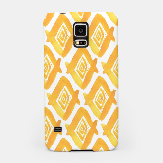 Miniaturka Ethnic Yellow Pattern Samsung Case, Live Heroes