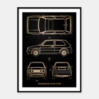 GOLF mk 2 1992 Framed poster thumbnail image