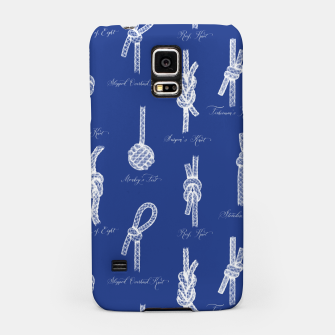 Nautical Knots Pattern (Navy and White) Samsung Case thumbnail image