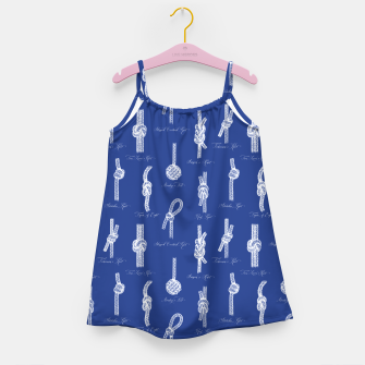 Nautical Knots Pattern (Navy and White) Girl's dress thumbnail image