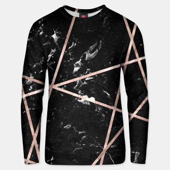 Miniaturka Black Marble Rose Gold Geo Glam #1 #geo #decor #art  Unisex sweatshirt, Live Heroes