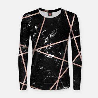 Thumbnail image of Black Marble Rose Gold Geo Glam #1 #geo #decor #art  Frauen sweatshirt, Live Heroes