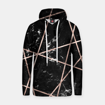 Thumbnail image of Black Marble Rose Gold Geo Glam #1 #geo #decor #art  Kapuzenpullover, Live Heroes