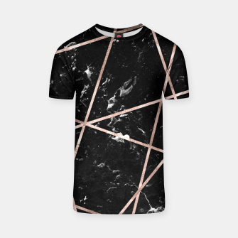 Thumbnail image of Black Marble Rose Gold Geo Glam #1 #geo #decor #art  T-Shirt, Live Heroes