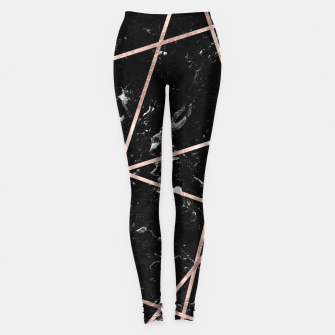 Thumbnail image of Black Marble Rose Gold Geo Glam #1 #geo #decor #art  Leggings, Live Heroes