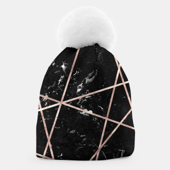 Miniaturka Black Marble Rose Gold Geo Glam #1 #geo #decor #art  Mütze, Live Heroes
