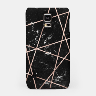 Thumbnail image of Black Marble Rose Gold Geo Glam #1 #geo #decor #art  Handyhülle für Samsung, Live Heroes