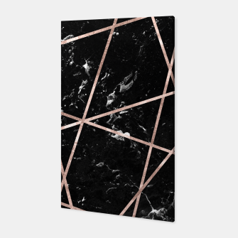 Thumbnail image of Black Marble Rose Gold Geo Glam #1 #geo #decor #art  Canvas, Live Heroes
