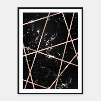 Thumbnail image of Black Marble Rose Gold Geo Glam #1 #geo #decor #art  Plakat mit rahmen, Live Heroes