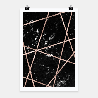 Thumbnail image of Black Marble Rose Gold Geo Glam #1 #geo #decor #art  Plakat, Live Heroes