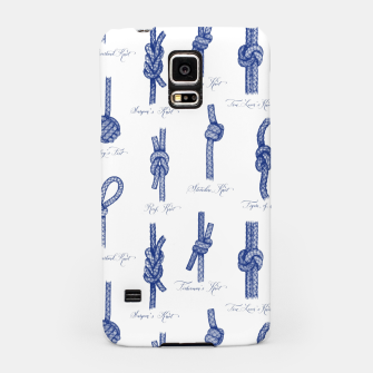 Miniaturka Nautical Knots Pattern (White and Navy) Samsung Case, Live Heroes