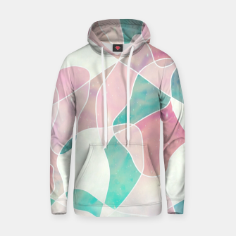 Pink and bluegreen geometric Hoodie thumbnail image