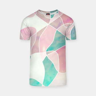 Pink and bluegreen geometric T-shirt thumbnail image