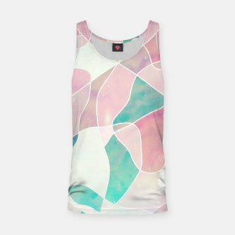 Pink and bluegreen geometric Tank Top thumbnail image