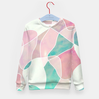 Pink and bluegreen geometric Kid's sweater thumbnail image