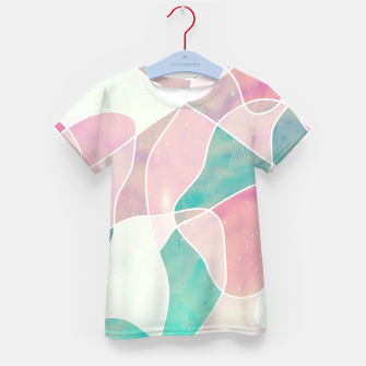 Pink and bluegreen geometric Kid's t-shirt thumbnail image