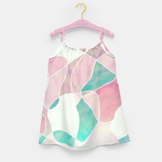 Pink and bluegreen geometric Girl's dress thumbnail image