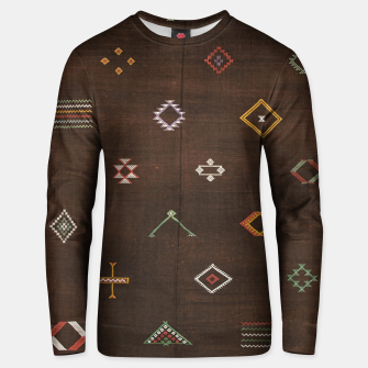 Thumbnail image of Antique Brown Traditional Moroccan Geometric Artwork Unisex sweater, Live Heroes