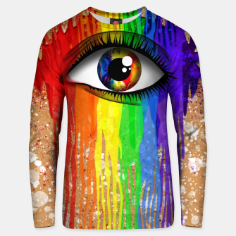 Imagen en miniatura de THE EYE OF THE RAINBOW Sudadera unisex, Live Heroes