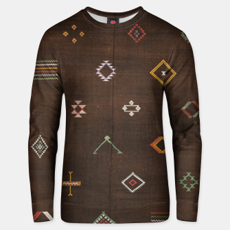 Antique Brown Traditional Moroccan Geometric Artwork Unisex sweater thumbnail image