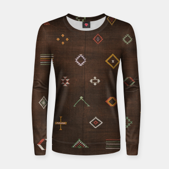 Antique Brown Traditional Moroccan Geometric Artwork Women sweater thumbnail image