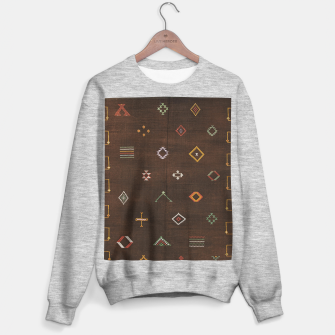 Antique Brown Traditional Moroccan Geometric Artwork Sweater regular thumbnail image