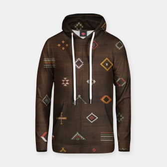 Antique Brown Traditional Moroccan Geometric Artwork Hoodie thumbnail image