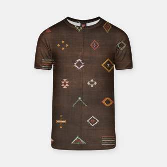 Thumbnail image of Antique Brown Traditional Moroccan Geometric Artwork T-shirt, Live Heroes
