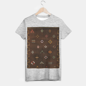 Antique Brown Traditional Moroccan Geometric Artwork T-shirt regular thumbnail image