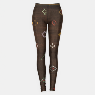 Antique Brown Traditional Moroccan Geometric Artwork Leggings thumbnail image