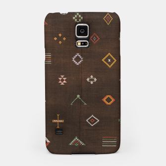 Antique Brown Traditional Moroccan Geometric Artwork Samsung Case thumbnail image