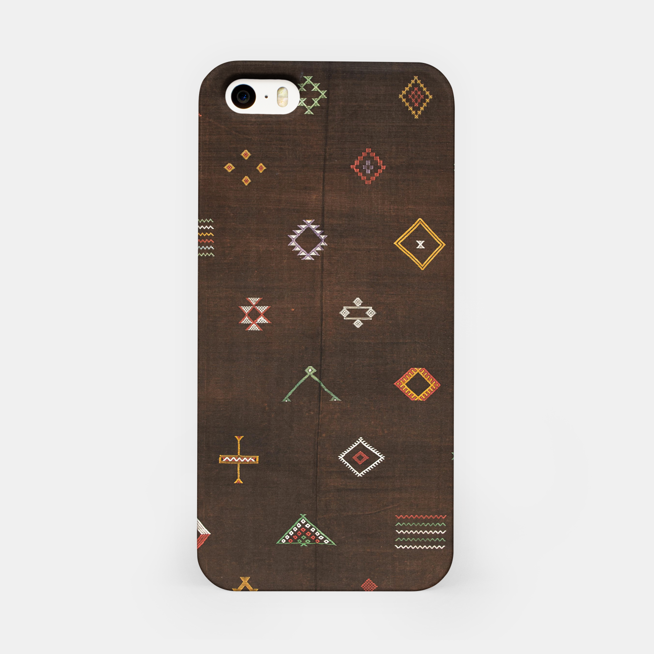 Image of Antique Brown Traditional Moroccan Geometric Artwork iPhone Case - Live Heroes