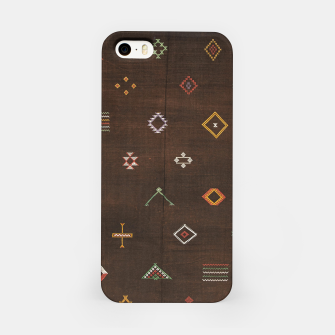 Thumbnail image of Antique Brown Traditional Moroccan Geometric Artwork iPhone Case, Live Heroes