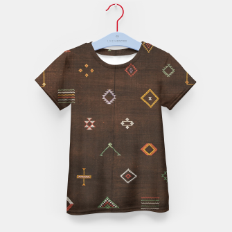 Thumbnail image of Antique Brown Traditional Moroccan Geometric Artwork Kid's t-shirt, Live Heroes