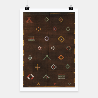 Antique Brown Traditional Moroccan Geometric Artwork Poster thumbnail image