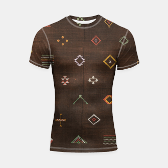 Antique Brown Traditional Moroccan Geometric Artwork Shortsleeve rashguard thumbnail image