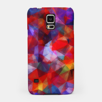 Miniaturka geometric triangle pattern abstract background in red blue yellow Samsung Case, Live Heroes