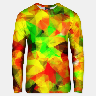 Imagen en miniatura de geometric triangle pattern abstract background in yellow green red Unisex sweater, Live Heroes