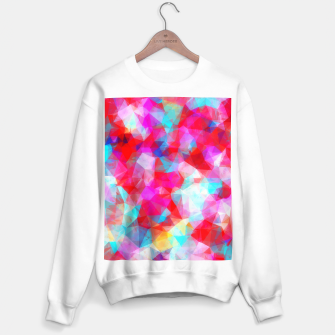Miniatur geometric triangle pattern abstract background in pink red blue Sweater regular, Live Heroes