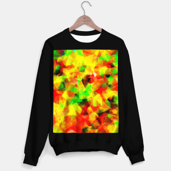 Imagen en miniatura de geometric triangle pattern abstract background in yellow green red Sweater regular, Live Heroes
