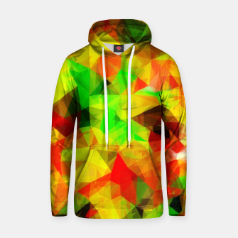 Thumbnail image of geometric triangle pattern abstract background in yellow green red Hoodie, Live Heroes