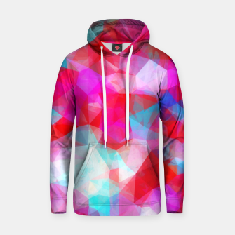 Thumbnail image of geometric triangle pattern abstract background in pink red blue Hoodie, Live Heroes